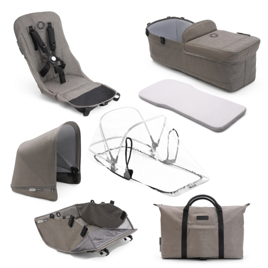 Bugaboo Donkey 2 Style Kit i fargeren Taup Mineral Collection