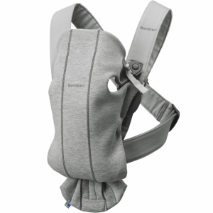 BabyBjörn Bæresele Mini 3D Jersey Light Grey