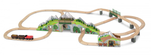 Melissa & Doug Togsett Mountain Railway Train Set 64