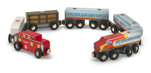 Melissa & Doug Togsett Wooden Train Cars