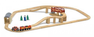 Melissa & Doug Togsett Swivel Bridge Train Set
