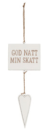Different Design Skilt God natt min skatt