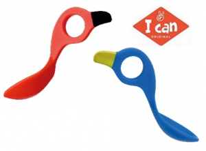 I Can Spoon 2-pack - Multigreppskje Blå/Rød