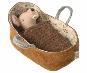 Maileg Mouse Baby Mouse In Carrycot
