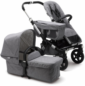 Bugaboo Donkey2 Mono Komplett, Classic Collection, Alu/Grey Melange