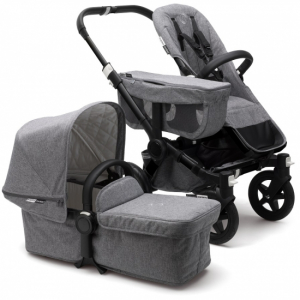 Bugaboo Donkey2 Mono Komplett, Classic Collection, Black/Grey Melange