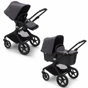 Bugaboo Fox2 Duovagn Black/Steel Blue