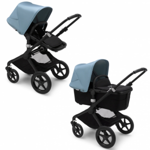 Bugaboo Fox2 Duovagn Black/Vapor Blue