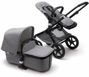 Bugaboo Fox Komplett Classic Collection, Black/Grey Melange