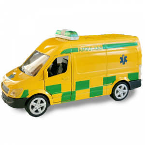 Pull-back Lekebil Die-Cast Ambulanse