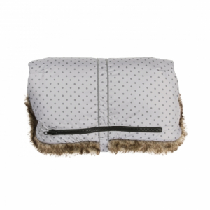 Vinter & Bloom Håndtaksmuff Mini Dots Silver Grey
