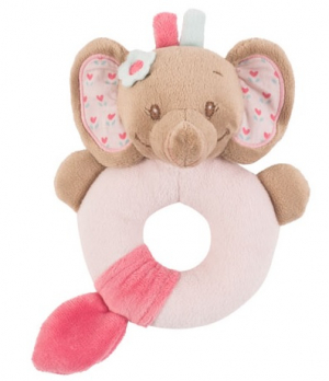 Nattou Ringrangle Rose Elefant Rosa