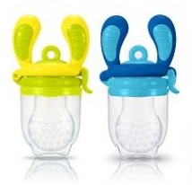 Kidsme Food Feeder Lime & Blå 2-pack