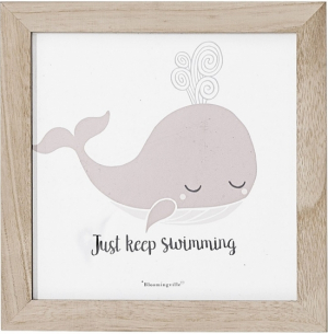 Bloomingville Tavle Just Keep Swimming