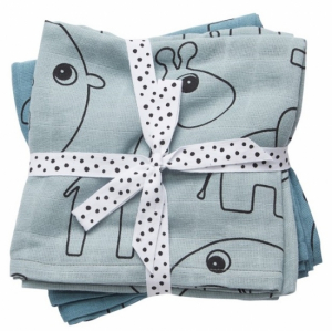 Done by Deer Swaddle pledd Contour Blue, 2-pack