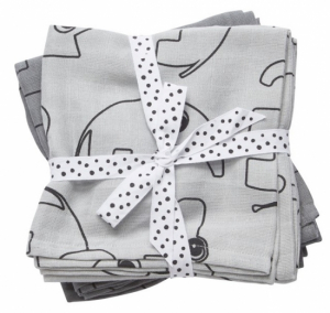 Done by Deer Swaddle pledd Contour Grey, 2-pack