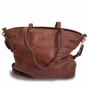 Stjernsund stelleveske brown leather