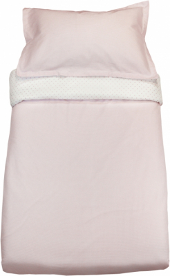 Vinter & Bloom Sengesett Vogn/Vugge Gingham Pink Rose