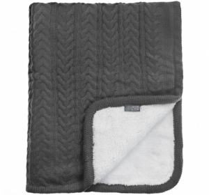Vinter & Bloom Strikket Teppe Cuddly Charcoal