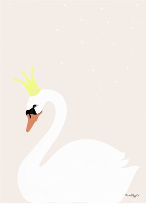 Frank & Poppy Poster 50x70 Swan Powder