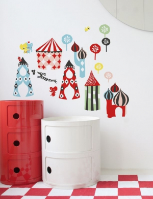 Littlephant Wallsticker Littletown Veggdekaler