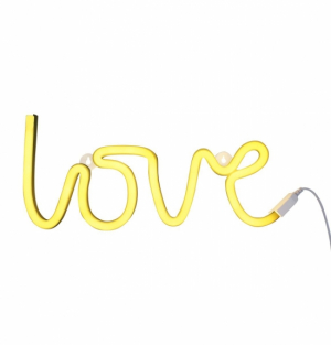 A Little Lovely Neon Light Love Yellow