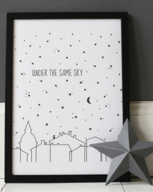 Littleheart Plakat A4, Under The Same Sky