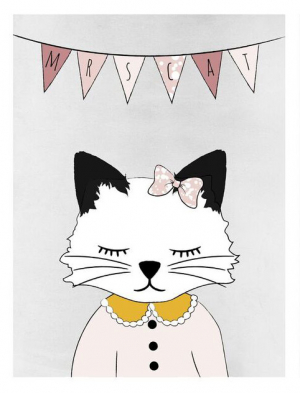 Frank & Poppy Poster 30x40 Mrs Cat