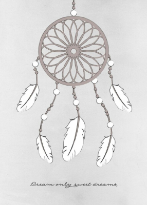 Frank & Poppy Poster 30x40 Dream Catcher Grey