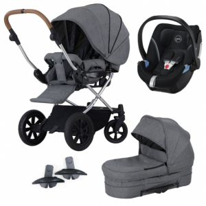 Crescent Performance Duo Grey Melange + Cybex bilstol