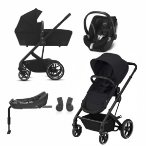 Cybex Balios S 2-in-1 Deep Black + Aton 5 Bilbase & adapter