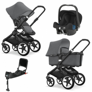 Bugaboo Fox Komplett Grey Melange/Black Travel System Britax