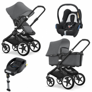 Bugaboo Fox Komplett Travel System, Black Chassi