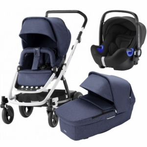 Britax Go Next² Travel System Navy Melange
