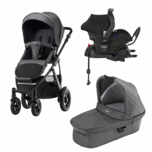 Britax Smile 2 Duovogn + Babysbilstol med base Black Denim