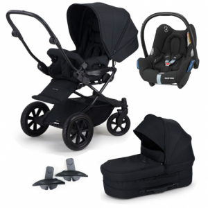 Paket! Crescent Performance Duo Black med Maxi Cosi babyskydd + Adapter