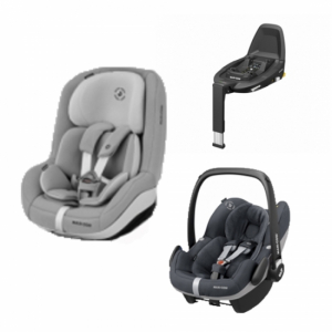 Maxi Cosi Pearl Pro-2 i-Size Authentic Grey + Pebble Pro & Family Fix3 Bas