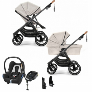 Pakkepris! Emmaljunga 2021 NXT90 Duovagn 2-i-1n | Outdoor Chassi | Maxi-Cosi Cabriofix | Adapter | Bilbase