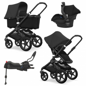 Pakkepris! Bugaboo Fox All Black + Britax Primo & base