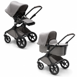 Bugaboo Fox Mineral Collection Light Grey Black Chassi