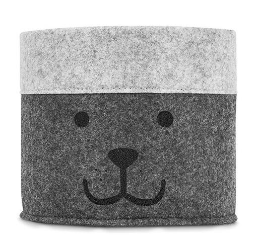 Bare ut Jollein Liten Kurv Felt Bear Grey | Høydemåler - Dekorere - BARN OB-28