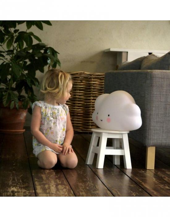 A Little Lovely Company Lampa Stor Moln Hvit   Nattlys Lamper