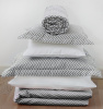 Vinter & Bloom Sengesett Sprinkelseng Herringbone Charcoal Grey