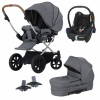 Pakke! Crescent Performance Duo Grey Melange med Maxi Cosi babyskydd + Adapter